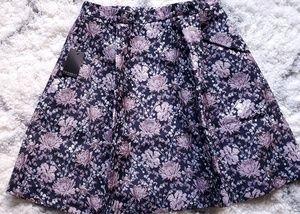 Eloquii Floral Pleat Skirt
